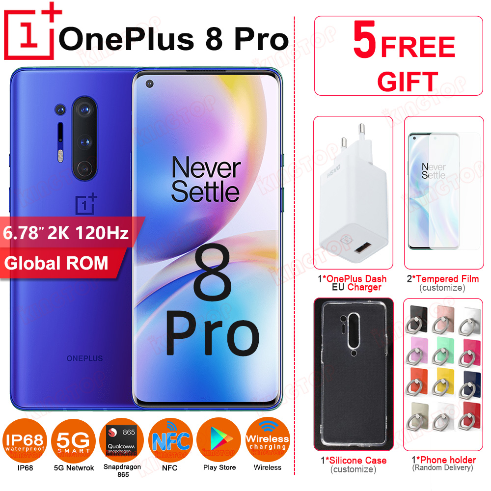 Global ROM OnePlus 8 Pro 5G Mobile Phone 120Hz 6.78