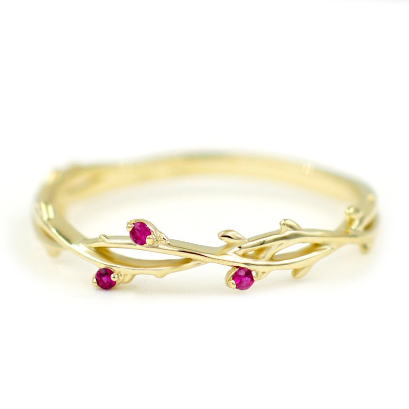 Jewelry Explosion Fashion Cute Womens Rose Red Ring Female Decoration