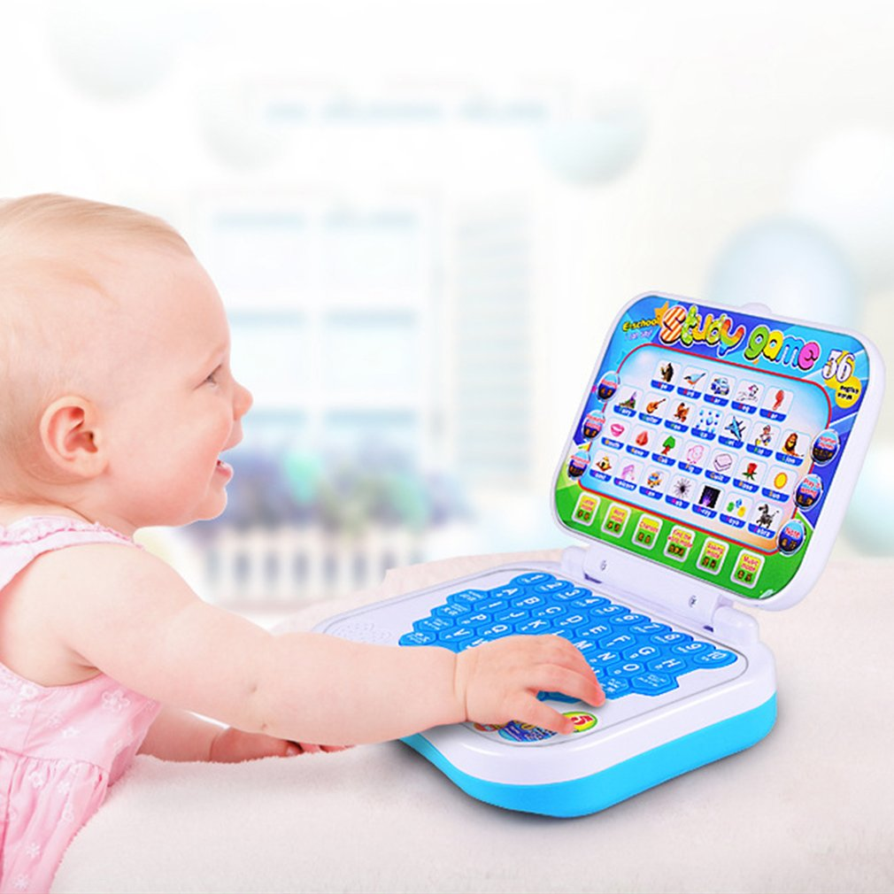 Baby Kids Learning Machine Kid <font><b>Laptop</b></font> <font><b>Toy</b></font> Early Interactive Machine Alphabet Pronunciation Educational <font><b>Toys</b></font> Gift for Kids Baby image