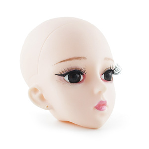 Image 3 - חדש 60cm Bjd בובת צעצועי 3D עיני DIY קירח ראש עירום עירום 21 מפרקים גוף נשי בובת גלוי ראש בובות צעצוע עבור בנות