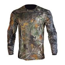T-Shirt Long-Sleeve Hunting Camo Men Clothing Deodorant Antibacterial Sports-Wear Crewnecks