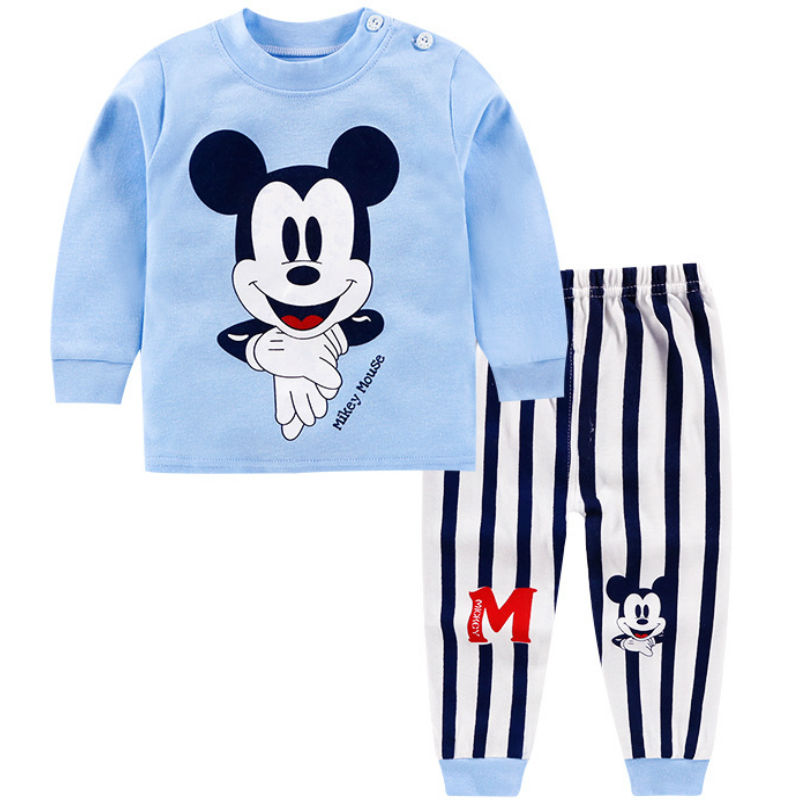 New Winter Baby Clothes Suit Cotton Newborn Baby Boy Girl Clothes 2PCS Baby Pajamas Unisex Children's Clothing Suit 0 2Y