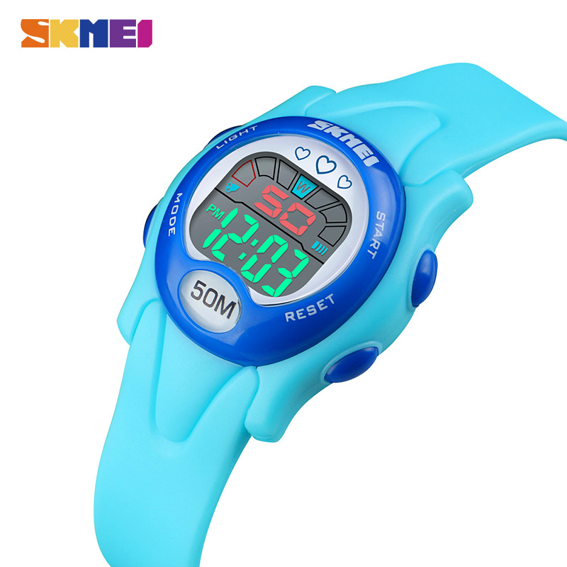 SKMEI 50M Waterproof Children LED Digital Watch Kids Electronic Wristwatches Chronograph Stop Watch Boys Girls Sport Watches
