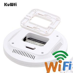 Image 5 - KuWfi routeur sans fil dintérieur 300M sans fil plafond AP routeur Point daccès WiFi AP avec amplificateur de Signal wi fi 48V POE
