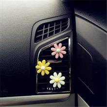 Ornamento do carro margarida flor perfume clipe purificadores de ar automóveis saída aberturas perfumadas difusor decoração automóvel acessórios presente