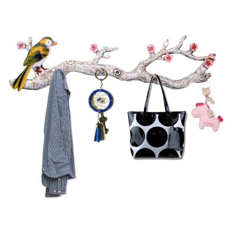 Accessoires de décoration de la maison porte derrière les vêtements crochet mur cintre tenture crochet porche art mur porte-manteau