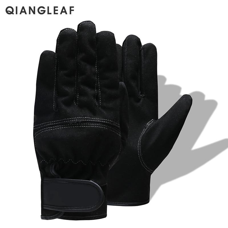 QIANGLEAF Brand Work Gloves Ultrathin Microfiber Ottoman Safety Glove Velcros Wear-resistant  Stitching Safety Mitten 3770