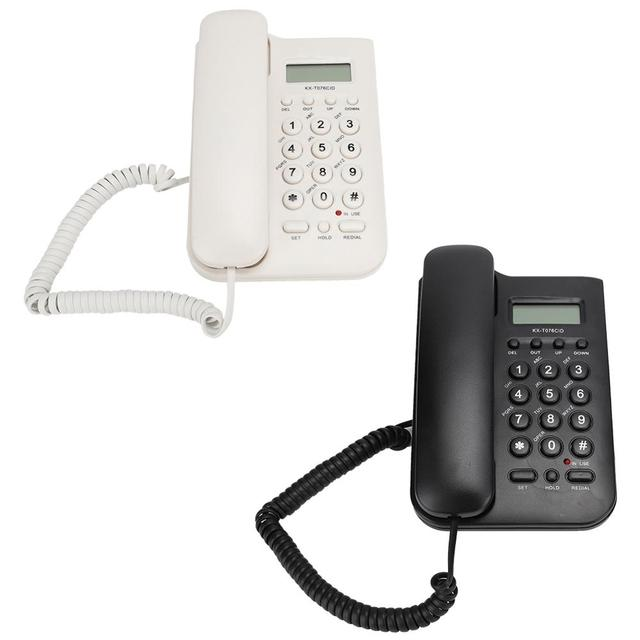 유선 전화 집 전화 FSK/DTMF 듀얼 시스템 호텔 유선 데스크탑 벽 전화 사무실 유선 전화 핸들 케이블 전화