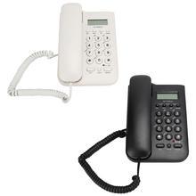 Sabit telefon ev telefonu FSK/DTMF çift sistemi otel kablolu masaüstü duvar telefon ofis sabit telefon kolu kablo telefon
