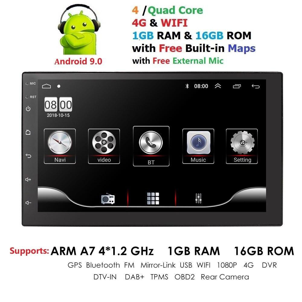 Autoradio Android 2 Din Autoradio GPS Navigation 2din lecteur multimédia voiture universel BT FM lien miroir stéréo moniteur Audio micro