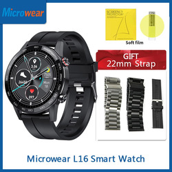 DIY часы лица Microwear L16 Смарт-часы ЭКГ 360*360IPS пульсометр кислорода в крови IP68 Водонепроницаемый Bluetooth VS Huwei GT 2 Watch GT2 Smartwatch волшебные часы