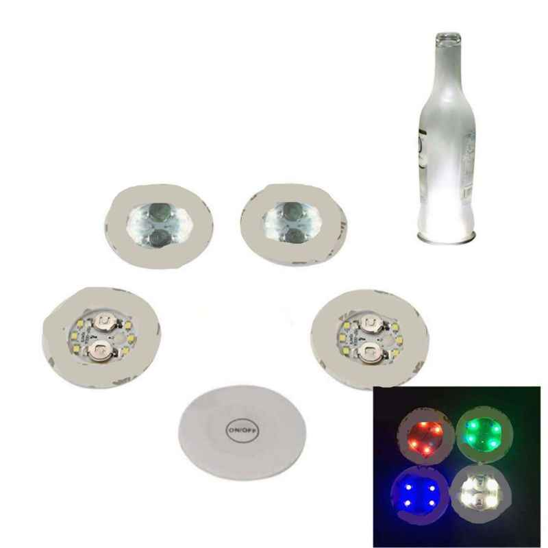 2020 nuevo LED posavasos con luz Up posavasos LED botella de luces glorificador pegatina LED