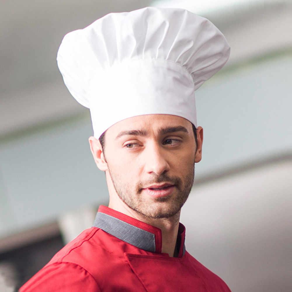 Chef Hat Fancy Dress Party Baker Cooking Hat BBQ Kitchen Black White Chef Hat Men Women Cook Cap Catering Cooking Cap
