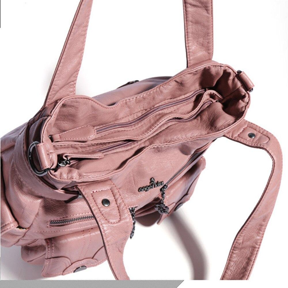 "Angelkiss Women Handbags Top-handle Handbag Multifunctional Bag Washable PU Shoulder Bag 13""x17"" Casual Bags Shopper Bags Large"