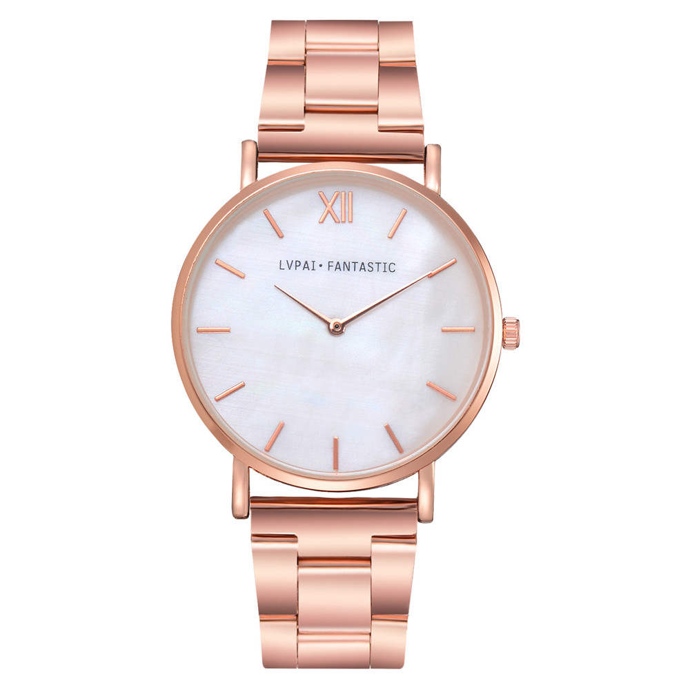 Elegant Populor Clock Luxury Brand Leather Quartz Women's Watch Ladies Fashion Watch Women Wristwatches Clock Zegarek Damski &50