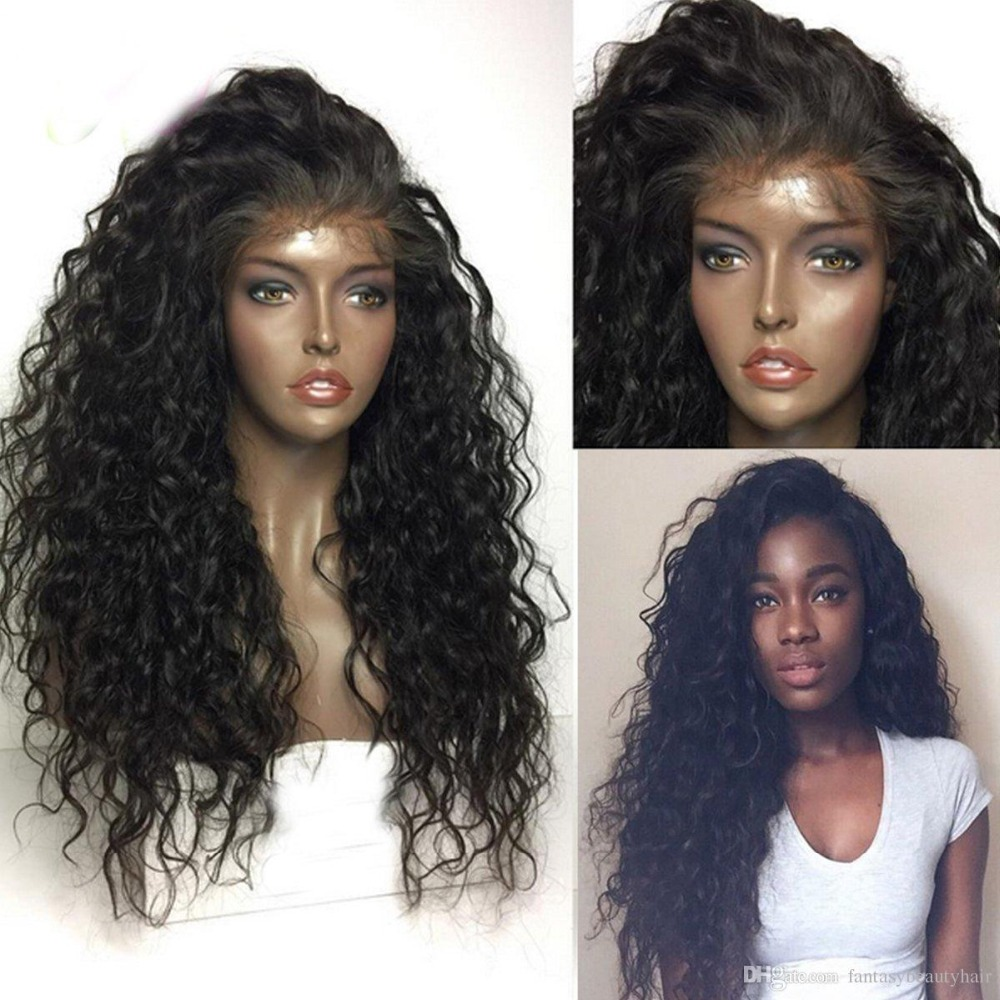 Fantasy Beauty 180% Denstiy Glueless Pre Plucked Lace Front Synthetic Hair Wigs Curly Wig Heat Resistatn Fiber With Baby Hair