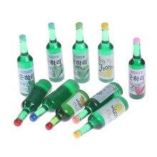 10pcs Mini Bottiglie di Vino Miniature Casa Delle Bambole Bambola Food Kitchen Living Room Accessori Regalo Dei Capretti Giochi Di Imitazione Giocattoli