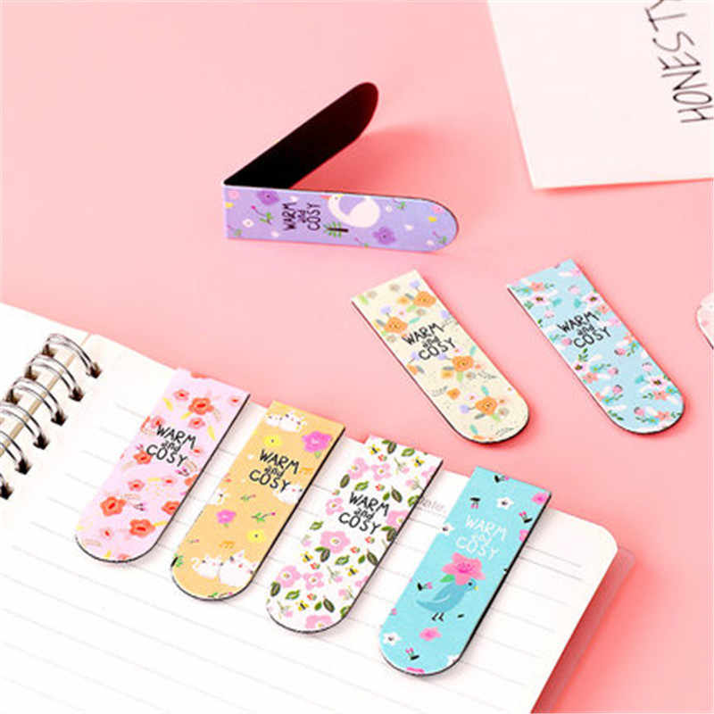 18 Pcs Mini Magnetic Bookmark Set Kawaii Bookmark Stiker Buku Marker Kertas Membaca Siswa Perlengkapan Alat Tulis