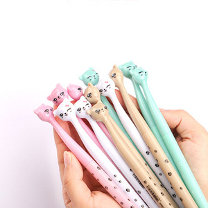 Image 5 - 60pcs/lot Cute cartoon cat gel pen kawaii stationery pens 0.5mm black ink office school supplies papelaria G001