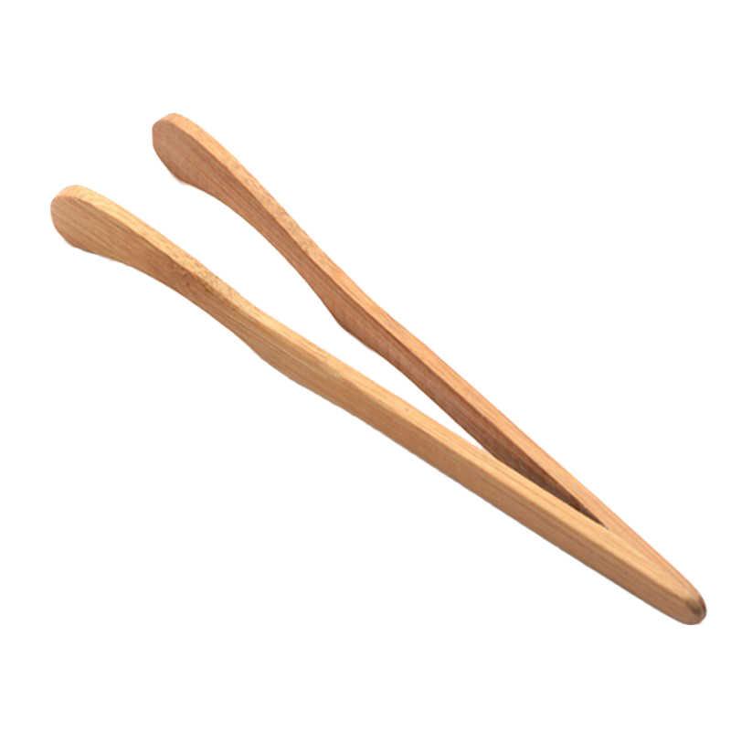 Nowa drewniana łyżeczka do herbaty pinceta bekon herbata klip szczypce bambusowa kuchnia sałatka jedzenie Toast kreatywna ceremonia herbaty z zero bambusa klip