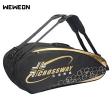 6-12Pcs Large Tennis Bag Professional Racquet Sports Bag Racket Backpack 2019 Badminton Bag/Accessories for Shoes Stroage(China)