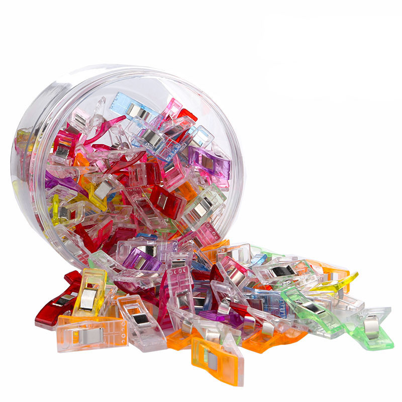 25 pces/50 pces costura artesanato colcha emperramento grampos de plástico grampos roupas foto documento saco grampos estacas costura suprimentos transporte da gota