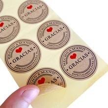 1000 шт/лот круглые многофункциональные наклейки для выпечки