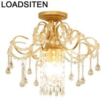 Lamp Sufitowe Luminaire Candeeiro Deckenleuchte Plafondlamp Lampara Techo Luminaria De Teto Crystal Plafonnier Ceiling Light