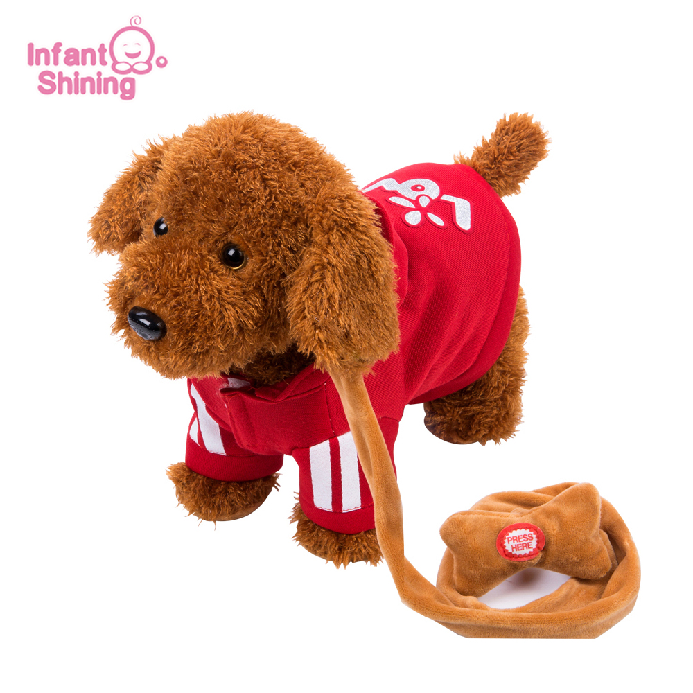 Les jouets électriques de chien d'enfants de chien de Robot brillant infantile peuvent chanter la musique et tordre sa corde de cul pour le jouet à télécommande Intelligent