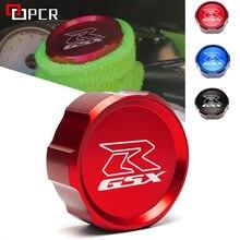 Para suzuki GSX-R gsxr 600 750 1000 motocicleta cnc alumínio freio dianteiro reservatório de fluido tampa do cilindro