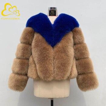 цена Winter Thick Warm Faux Fur Coat Women Plus Size Long Sleeve Faux Fur Jacket Luxury High Quality faux fox Fur overcoat онлайн в 2017 году