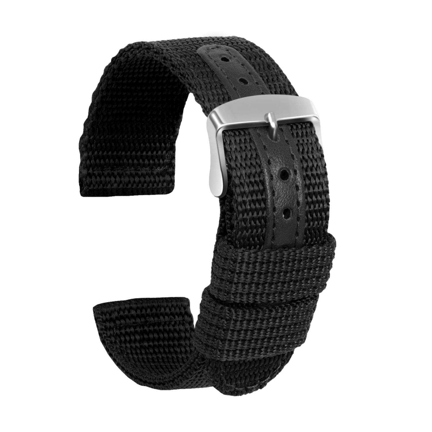 Watches Accessories Nylon Leather Watch Band For DW Watches Strap 18mm 20mm 22mm 24mm Width Watch Replacement Band