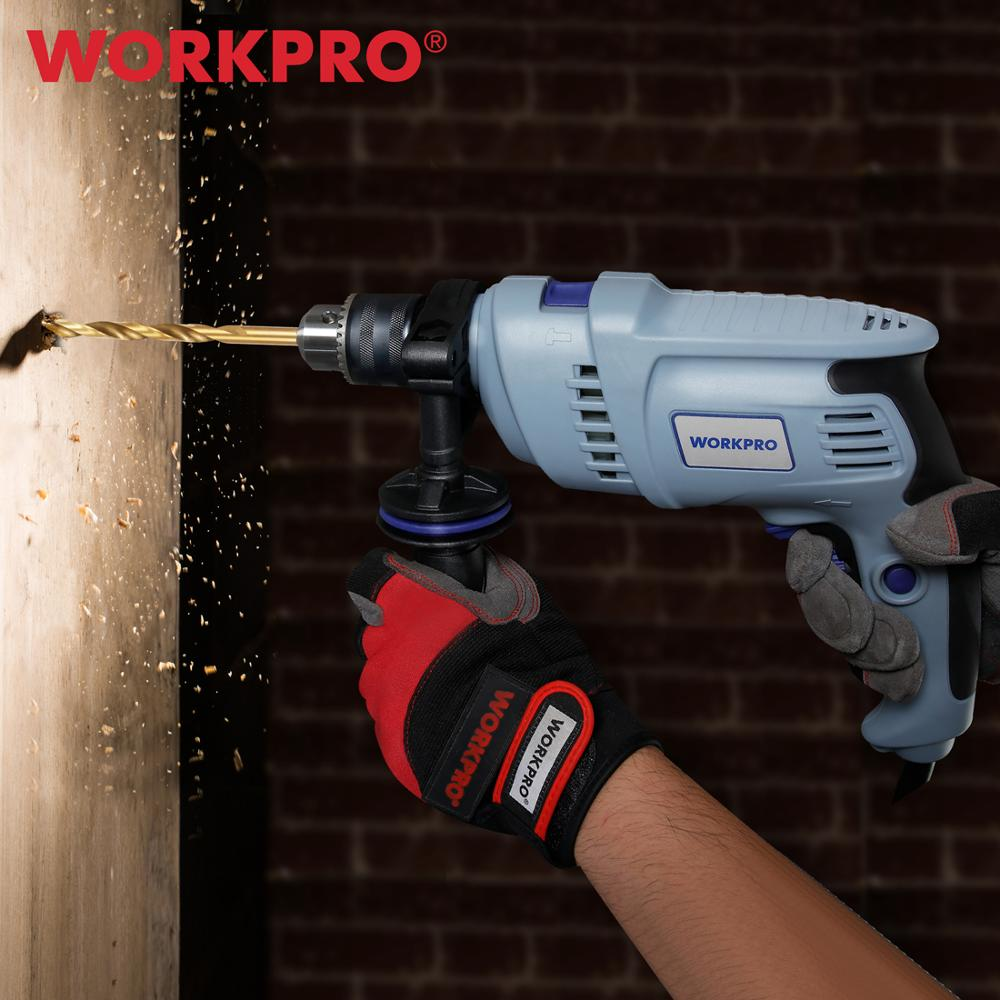 WORKPRO 230V 900W Impact Electric Drill Corded Hammer/ Impact Drill AC Electric Rotary with 9PC Power Drill Bits