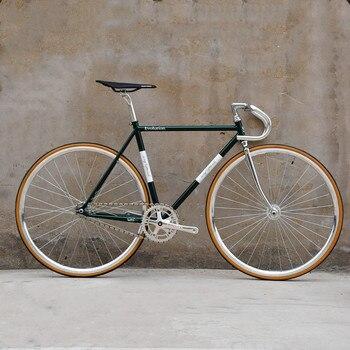 Song & friends Evolution 700C 52cm rama rowerowa Retro chromowana stal molibdenowa rama jednobiegowa rowerowa z hamulcami V