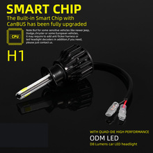 2* Car Auto 4 LED Headlights D8-H1 Lamp Bulbs 6500K DC 9-32V Waterproof Parts xencn h1 p14 5s 24v100w 3200k clear series original line car headlights oem quality halogen bulbs auto lamp
