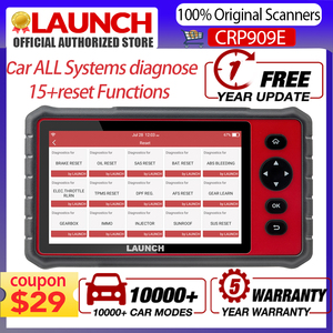 LAUNCH X431 CRP909E OBD Diagnostic Tool CRP909 E Professional Full System Car Scanner Has IMMO/Intector Coding More Functions