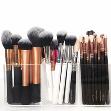 3 Slots Makeup Brush Holder Acrylic Brush Liner Organizer Makeup Tools Storage Box Eyebrow Pencil Lipsticks Stand Case(China)