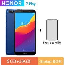 Мобильный телефон Honor 7 Play оригинальный, 2 ГБ 16 ГБ, 4G LTE, MT6739 четырёхъядерный, экран 5,45 дюйма 1440х720P, 13 Мп, на базе Android 8.1, OTA обновления