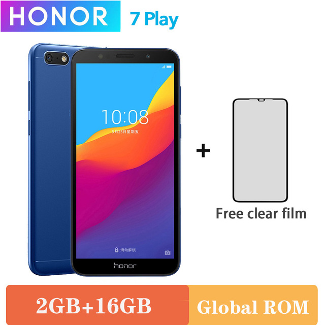 Original Honor 7 Play 2G 16G 4G LTE MT6739 Quad Core 5.45 Inch 1440*720P 13.0MP Android 8.1 OTA Update Mobile Phone