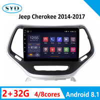 RAM2G ROM32G Car Radio for Jeep Cherokee 2014 2017 Multimedia Player Video Stereo 1 DIN Android 8.1 GPS Navi System Mirror Link