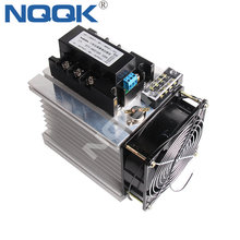 цена на 120A 0-10V control signal three phase 380VAC LA VD SSR Solid state relay with heat sink