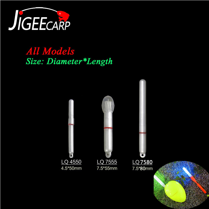 JIGEECARP 1pc Carp Fishing Float Electronic Light Sticks Night Fishing Float Rod LED Glowing Lamp Luminous Sticks Accessories