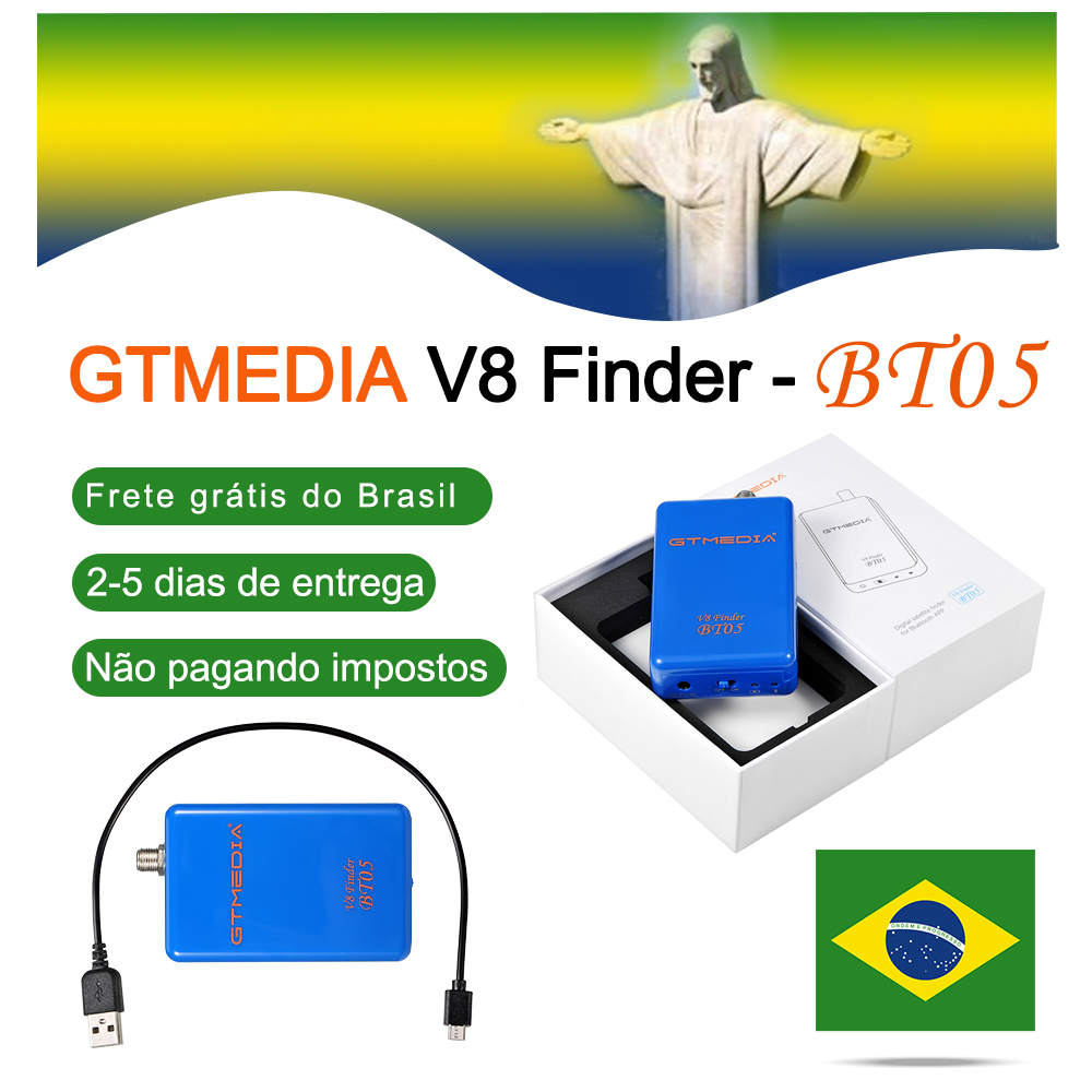 GTmedia V8 Finder BT05 Mini Digital Satfinder DVB S2 DVB S2 Satelite Finder Meter Full HD 1080P FTA Sat Finder Ship From Brazil