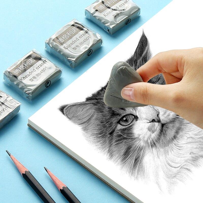 Пластичный резиновый мягкий ластик для вытирания и вытирания, разминаемая резина для художественного пиантинга, эскиза, рисования