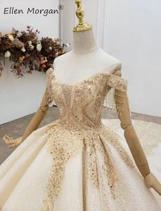 Image 5 - Elegant Off ไหล่ Gowns ชุดแต่งงานลูกไม้ 2020 Real รูปภาพ Beaded Fringe Elegant ชุดเจ้าสาวสำหรับผู้หญิง