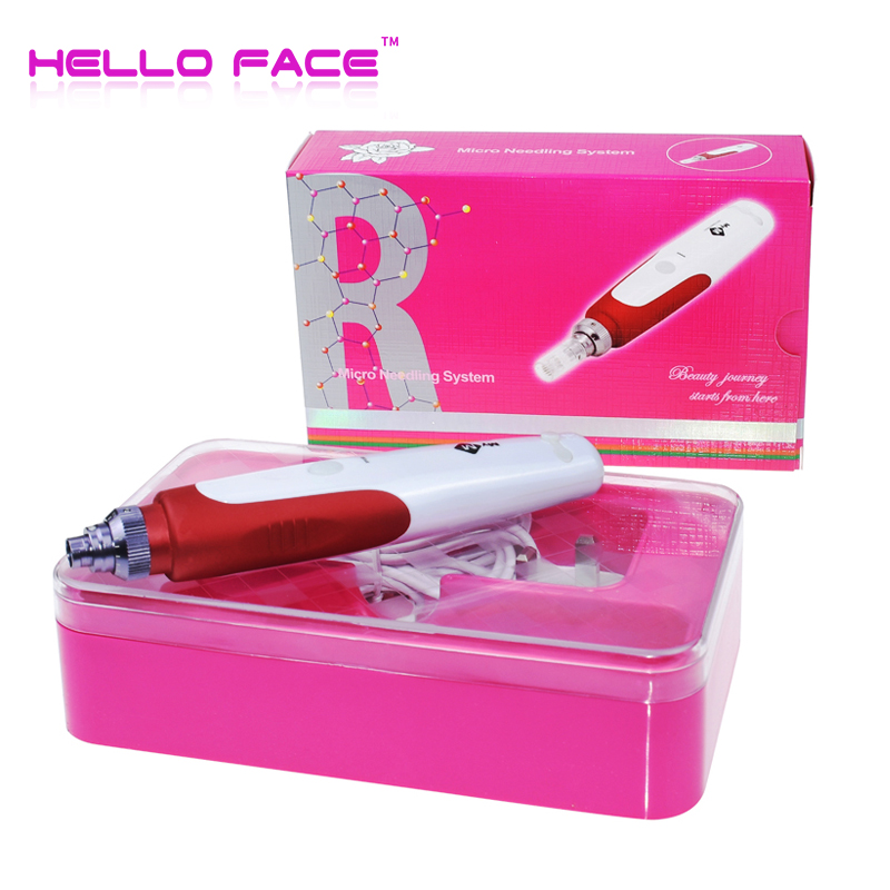 Derma Stamp MYM Electric Derma Pen Micro Needling Pen Mesotherapy Auto Micro Needle Roller With 12 Pin Needles