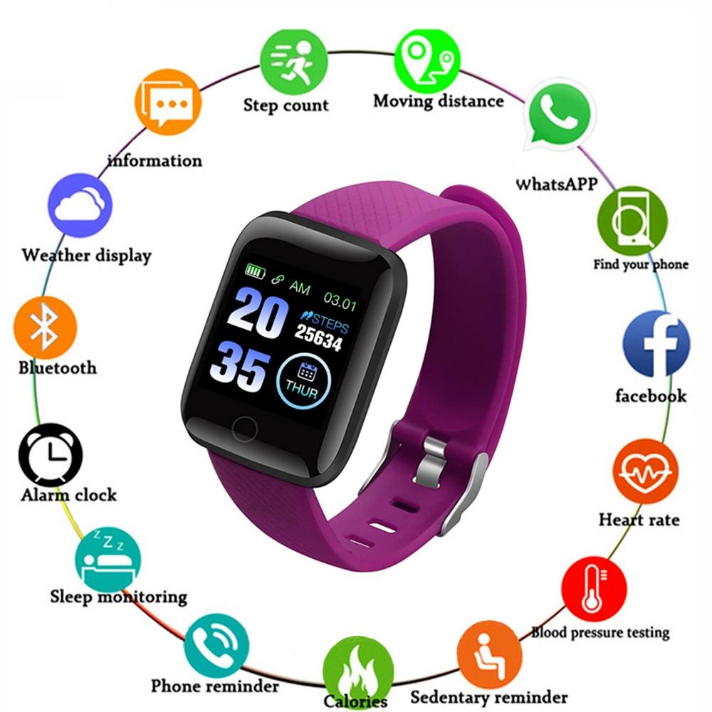 D13 Smart Watches Smart Wristband Heart Rate Watch 116plus Men Women Sports Watches Smart Band Waterproof Smartwatch