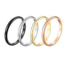 2019 Minimalist 18K rose gold spherical stainless steel couple ring female Men Woman Ring(China)