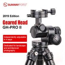 SUNWAYFOTO GH-PRO II штатив с зубчатой головкой панорамная головка для dslr камеры панорамная головка arca swiss с одной бесплатной быстросъемной пластиной