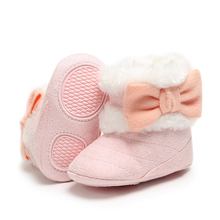 Winter Warm Baby Girl Shoes Soft Sole To